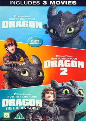 How to Train Your Dragon Trilogy (3 film) (DVD) - Klik her for at se billedet i stor størrelse.