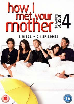How I Met Your Mother:  Season  4 (3-disc) (DVD) - Klik her for at se billedet i stor størrelse.