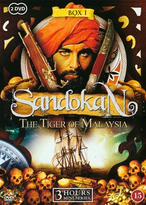 Sandokan - The Tiger of Malaysia: Box 1 (2-disc) (DVD) - Klik her for at se billedet i stor størrelse.