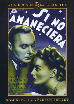 Si No Amaneciera (Hold Back the Dawn)  (DVD) - Klik her for at se billedet i stor størrelse.