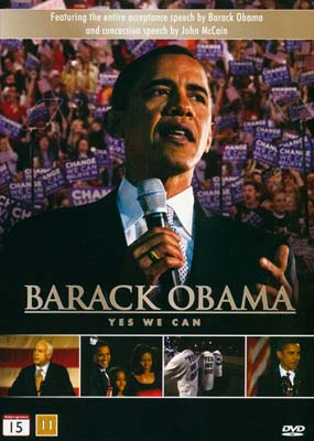 Barack Obama: Yes We Can  (DVD) - Klik her for at se billedet i stor størrelse.