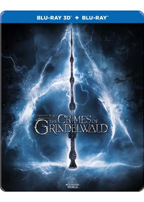 Fantastic Beasts: The Crimes of Grindelwald (Steelbook) (Blu-ray 3D) (BD) - Klik her for at se billedet i stor størrelse.