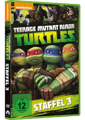 Teenage Mutant Ninja Turtles: Season 3 (tysk omslag) (4-disc) (DVD) - Klik her for at se billedet i stor størrelse.