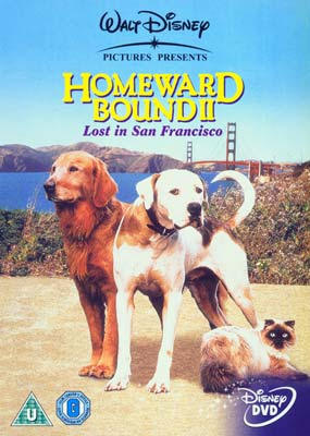 Homeward Bound II: Lost in San Francisco  (DVD) - Klik her for at se billedet i stor størrelse.