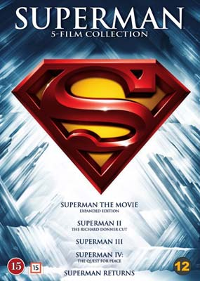 Superman: 5-Film Collection  (1978-2006) (5-disc) (DVD) - Klik her for at se billedet i stor størrelse.