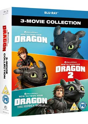 How to Train Your Dragon: 3-Movie Collection (Blu-ray) (BD) - Klik her for at se billedet i stor størrelse.