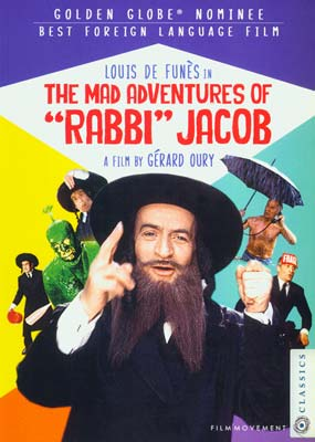 Mad Adventures of Rabbi Jacob, The  (DVD) - Klik her for at se billedet i stor størrelse.