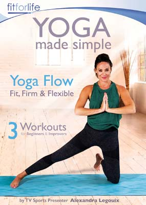 Yoga Made Simple: Yoga Flow - Fit, Firm and Flexible  (DVD) - Klik her for at se billedet i stor størrelse.