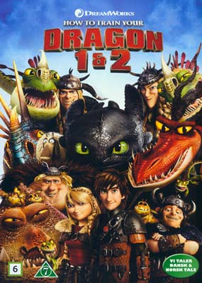 How to Train Your Dragon 1 &  2 (2 film) (DVD) - Klik her for at se billedet i stor størrelse.
