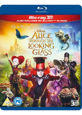 Alice Through the Looking Glass (Blu-ray 3D) (BD) - Klik her for at se billedet i stor størrelse.