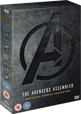 Avengers, The: 4-Movie Collection  (DVD) - Klik her for at se billedet i stor størrelse.