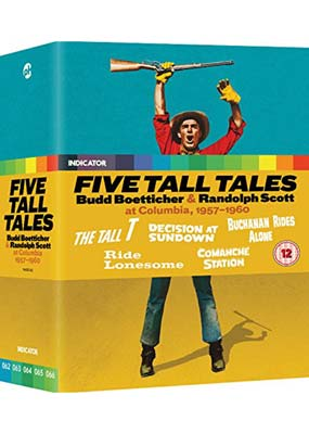Five Tall Tales: Budd Boetticher & Randolph Scott at Columbia, 1957-1960 (Blu-ray) (BD) - Klik her for at se billedet i stor størrelse.