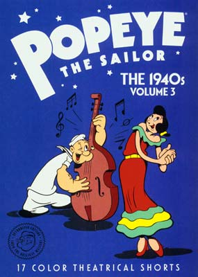 Popeye the Sailor: The 1940s - Volume  3  (DVD) - Klik her for at se billedet i stor størrelse.