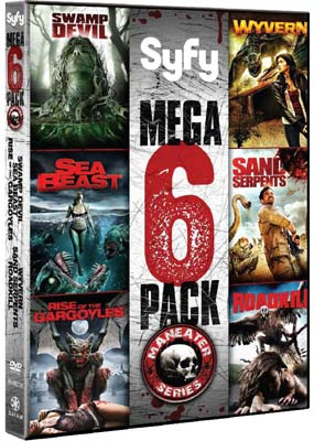 Maneater Series: Swamp Devil / Sea Beast / Rise of the Gargoyles / Wyvern / Sand Serpents / Roadkill (3-disc) (DVD) - Klik her for at se billedet i stor størrelse.