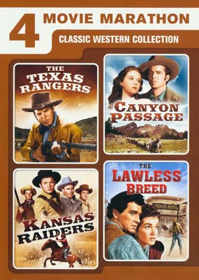4 Movie Marathon: Classic Western Collection  (DVD) - Klik her for at se billedet i stor størrelse.