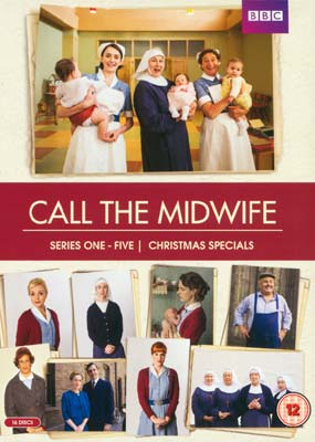 Call the Midwife:  Series  1-5 + Christmas Specials (16-disc) (DVD) - Klik her for at se billedet i stor størrelse.