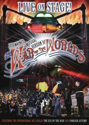 Jeff Wayne: The War of the Worlds - Live on  Stage!  (DVD) - Klik her for at se billedet i stor størrelse.