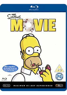 Simpsons Movie, The  (Blu-ray) (BD) - Klik her for at se billedet i stor størrelse.