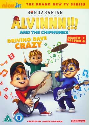 Alvin & The Chipmunks: Driving Dave Crazy  (DVD) - Klik her for at se billedet i stor størrelse.