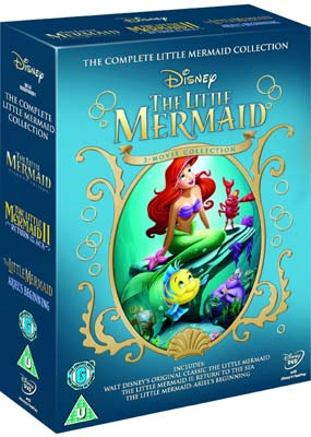 Little Mermaid Trilogy, The  (DVD) - Klik her for at se billedet i stor størrelse.