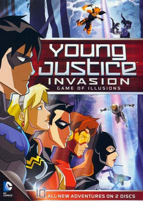 Young Justice: Season 2, Part 2: Game of Illusions (2-disc) (DVD) - Klik her for at se billedet i stor størrelse.